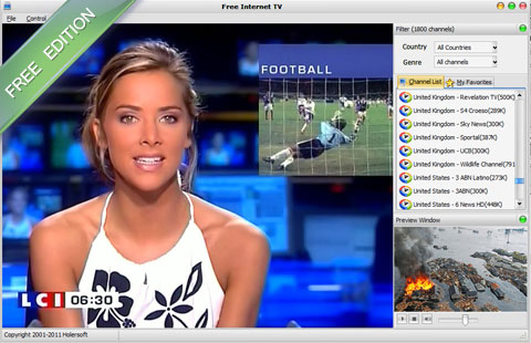 Free Internet TV Screen shot